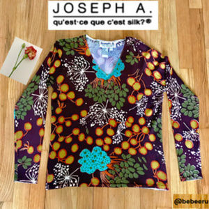 Joseph A Pullover Blouse, Size Large